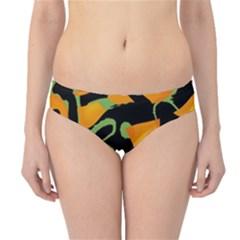 Abstract Animal Print Hipster Bikini Bottoms