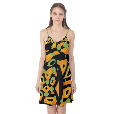 Abstract animal print Camis Nightgown