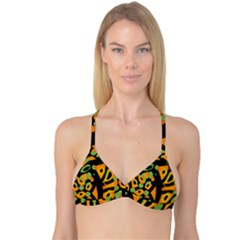 Abstract Animal Print Reversible Tri Bikini Top