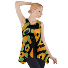 Abstract animal print Side Drop Tank Tunic
