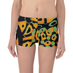 Abstract Animal Print Reversible Boyleg Bikini Bottoms