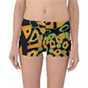 Abstract animal print Reversible Boyleg Bikini Bottoms View1