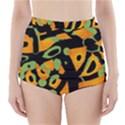 Abstract animal print High-Waisted Bikini Bottoms View1