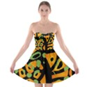 Abstract animal print Strapless Bra Top Dress View1