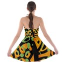 Abstract animal print Strapless Bra Top Dress View2