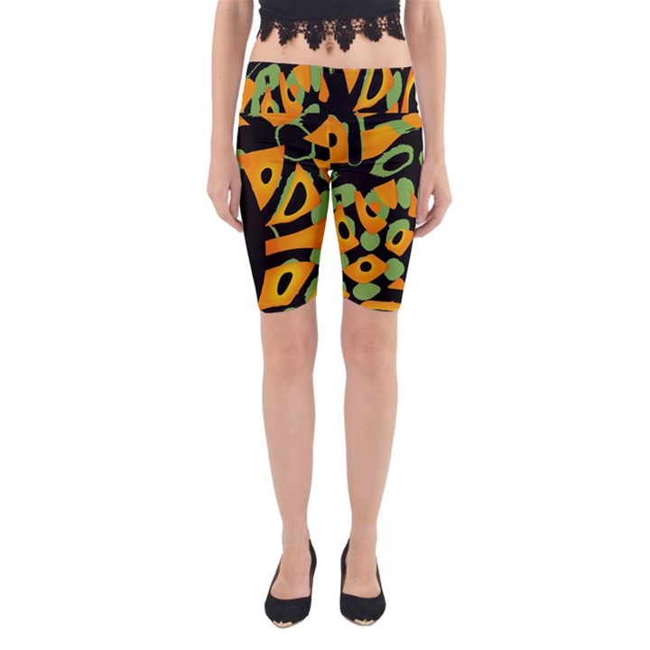 Abstract animal print Yoga Cropped Leggings