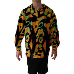 Abstract Animal Print Hooded Wind Breaker (kids)