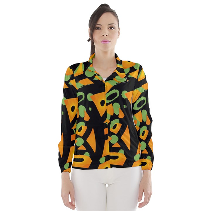 Abstract animal print Wind Breaker (Women)