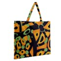 Abstract animal print Zipper Large Tote Bag View2