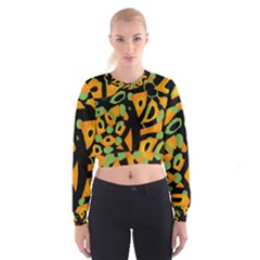 Abstract animal print Women s Cropped Sweatshirt