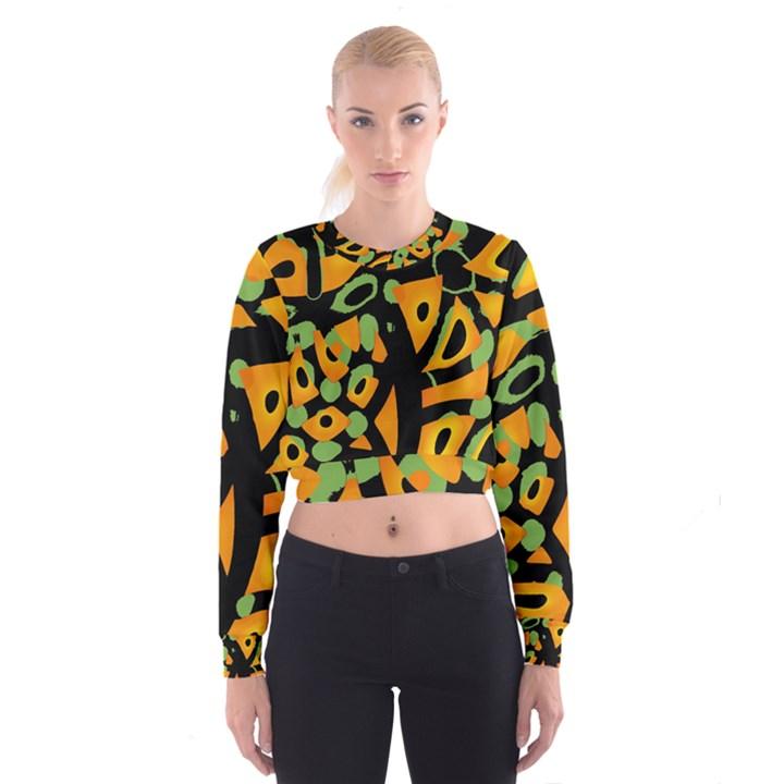 Abstract animal print Women s Cropped Sweatshirt