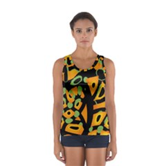 Abstract animal print Women s Sport Tank Top