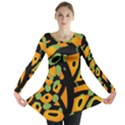 Abstract animal print Long Sleeve Tunic  View1