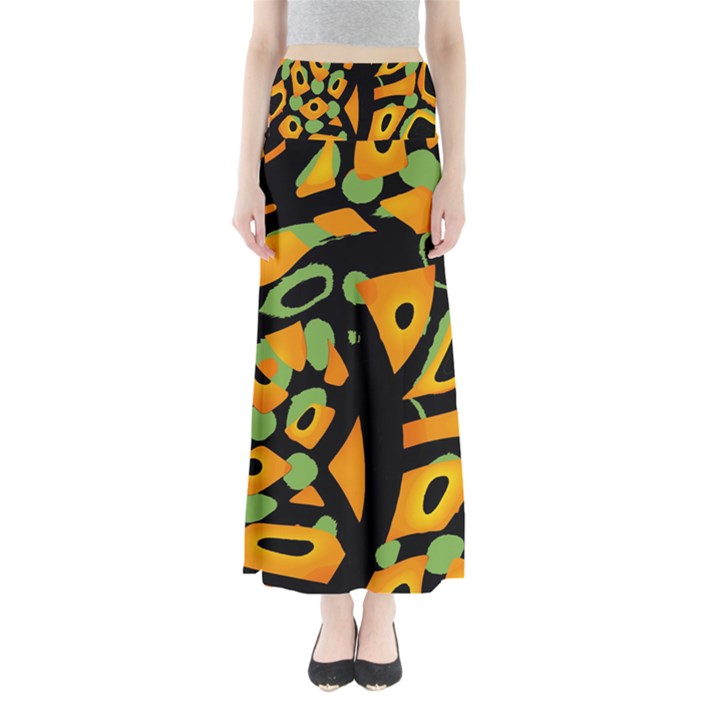 Abstract animal print Maxi Skirts