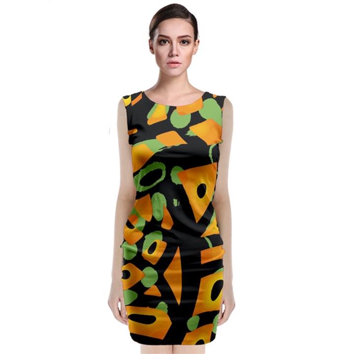 Abstract animal print Classic Sleeveless Midi Dress