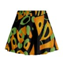 Abstract animal print Mini Flare Skirt View1