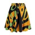 Abstract animal print High Waist Skirt View1