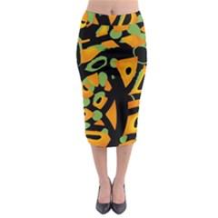 Abstract Animal Print Midi Pencil Skirt