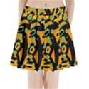 Abstract animal print Pleated Mini Skirt View1