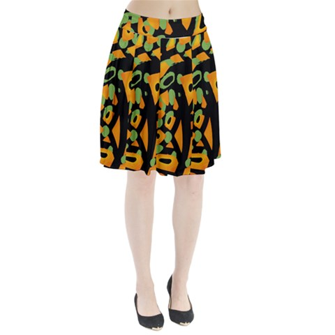 Abstract animal print Pleated Skirt