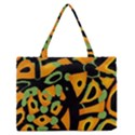 Abstract animal print Medium Zipper Tote Bag View1