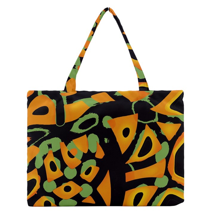 Abstract animal print Medium Zipper Tote Bag
