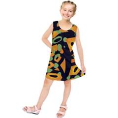 Abstract Animal Print Kids  Tunic Dress