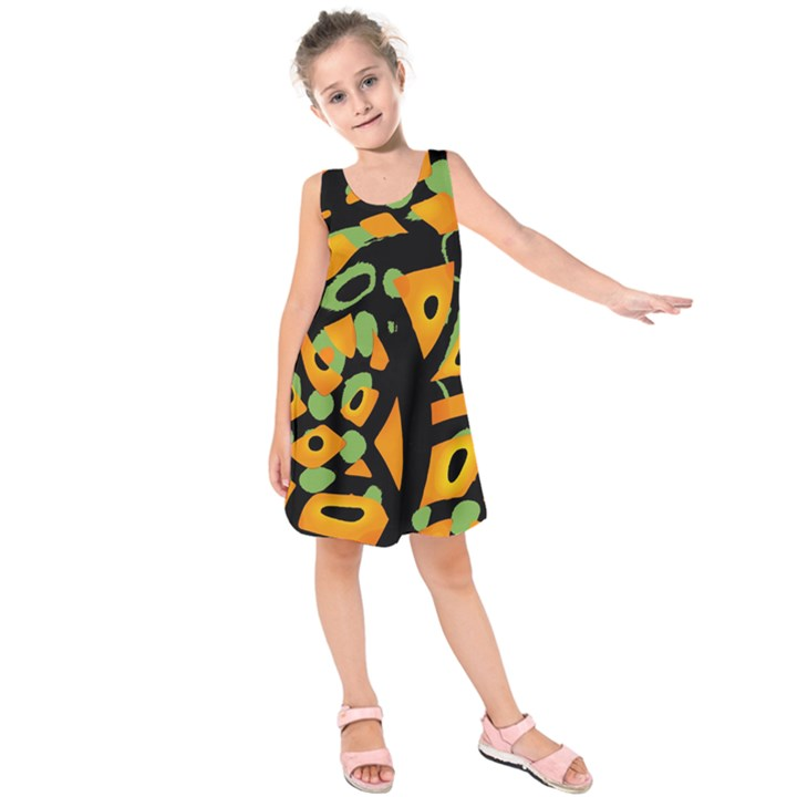 Abstract animal print Kids  Sleeveless Dress