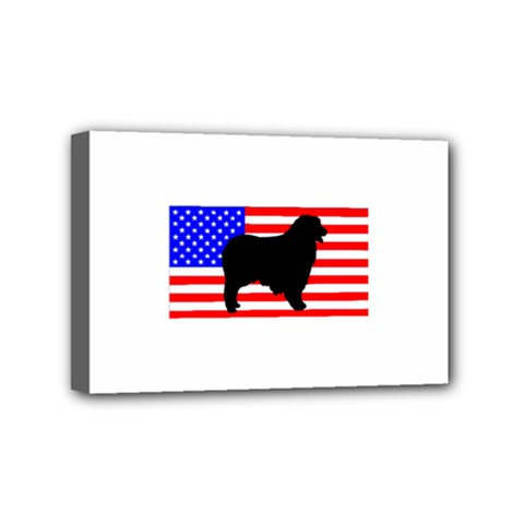 Australian Shepherd Silo Usa Flag Mini Canvas 6  x 4