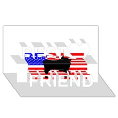 Australian Shepherd Silo Usa Flag Best Friends 3D Greeting Card (8x4)