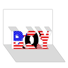 Australian Shepherd Silo Usa Flag BOY 3D Greeting Card (7x5)