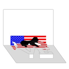 Australian Shepherd Silo Usa Flag LOVE Bottom 3D Greeting Card (7x5)