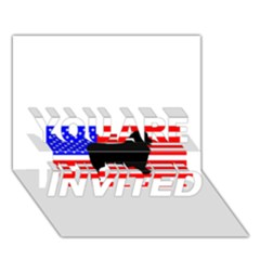 Australian Shepherd Silo Usa Flag YOU ARE INVITED 3D Greeting Card (7x5)