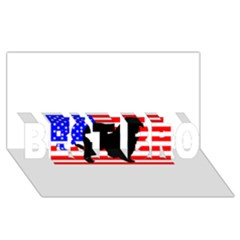 Australian Shepherd Silo Usa Flag BEST BRO 3D Greeting Card (8x4)
