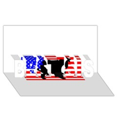 Australian Shepherd Silo Usa Flag BEST SIS 3D Greeting Card (8x4)