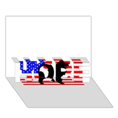 Australian Shepherd Silo Usa Flag HOPE 3D Greeting Card (7x5)