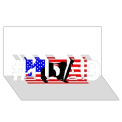 Australian Shepherd Silo Usa Flag #1 DAD 3D Greeting Card (8x4)