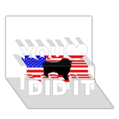 Australian Shepherd Silo Usa Flag You Did It 3D Greeting Card (7x5)