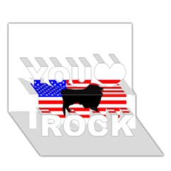 Australian Shepherd Silo Usa Flag You Rock 3D Greeting Card (7x5)
