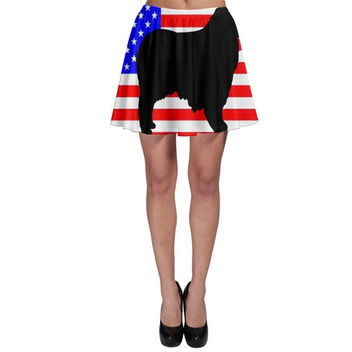 Australian Shepherd Silo Usa Flag Skater Skirt