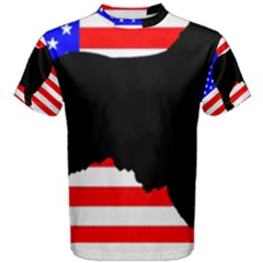 Australian Shepherd Silo Usa Flag Men s Cotton Tee