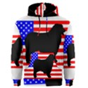 Australian Shepherd Silo Usa Flag Men s Pullover Hoodie View1