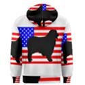 Australian Shepherd Silo Usa Flag Men s Pullover Hoodie View2