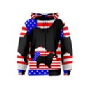 Australian Shepherd Silo Usa Flag Kids  Zipper Hoodie View1