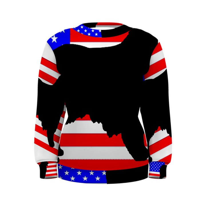 Australian Shepherd Silo Usa Flag Women s Sweatshirt