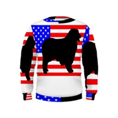 Australian Shepherd Silo Usa Flag Kids  Sweatshirt