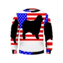 Australian Shepherd Silo Usa Flag Kids  Sweatshirt View1
