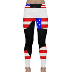 Australian Shepherd Silo Usa Flag Yoga Leggings