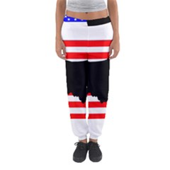 Australian Shepherd Silo Usa Flag Women s Jogger Sweatpants