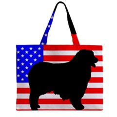 Australian Shepherd Silo Usa Flag Zipper Mini Tote Bag